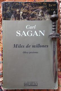 Portada del libro Miles de millones, de Carl Sagan