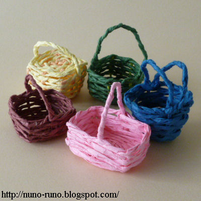 Baskets of various colors