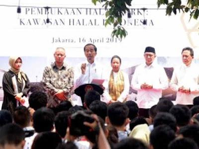 Resmikan Halal Park, Joko Widodo Targetkan 5 Juta Kunjungan Wisata Halal ke Indonesia