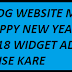Blog Website ME Happy New Year 2018 Widget Add Kaise Kare