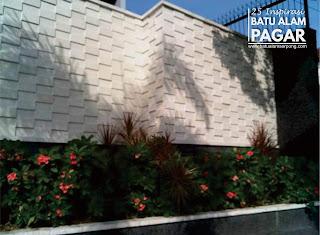 inspirasi batu alam dinding pagar