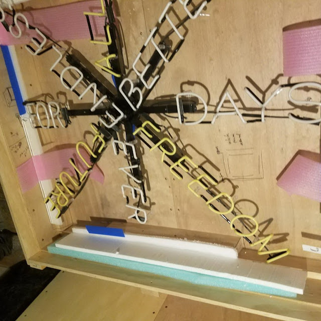 Packing and shipping neon signs
