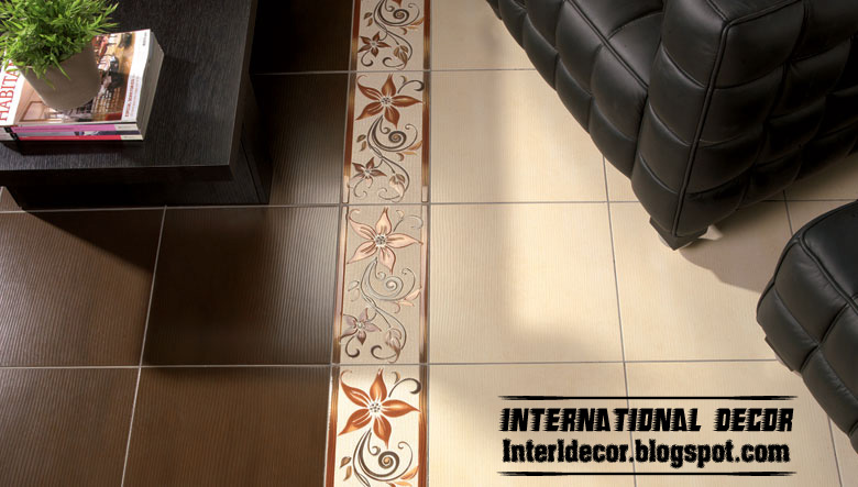 Brown And Beige Floor Tile Design