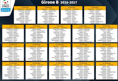 Lega Pro Calendario Girone B.La Voce Della Lega Pro Calendario Girone B