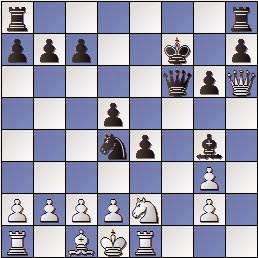 Partida de ajedrez Barrababe vs Vivas Font, Memorial Puig y Puig 1950, posición después de 14…Cd4
