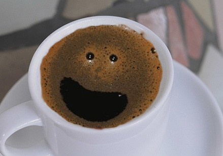 put your face in coffee