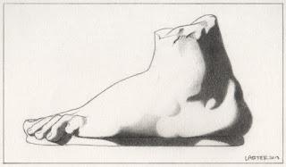 Нога. Графитный карандаш– Рон Лартер