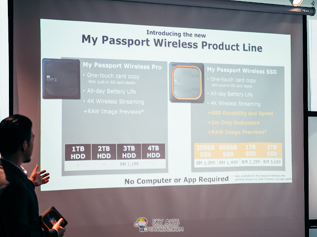 Mr Albert Chang, WD Regional Product Marketing sharing about comparison between WD My Passport Wireless SSD and WD My Passport Wireless Pro (earlier version)