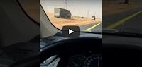 شاهد بالفيديو لحظة اصطدام مروعة لشاحنة تسير  بسرعة 120 كلم