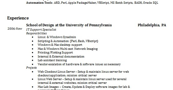 it support specialist resume format in word free download