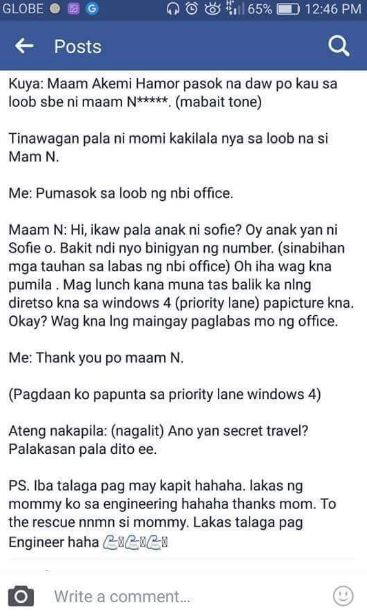 Netizens Lambasted This Girl Who Bragged About How Easily She Got Her NBI Clearance!