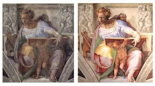Afresco Michelangelo, Profeta Daniel, CApela Sistina