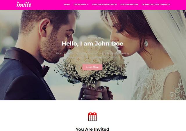 Invite шаблон для бизнес сайта blogger