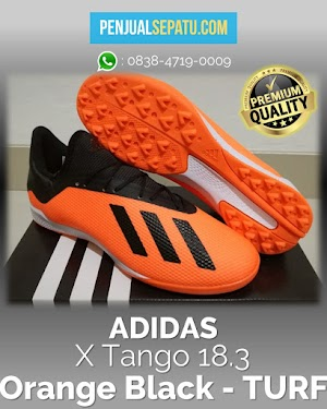 Futsal Adidas X Tango 18.3 Orange Black - TURF