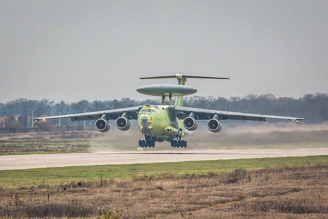 Russian A-100 AWACS maiden flight