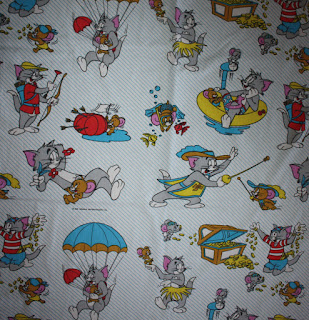 Vintage Rare Tom & Jerry Bed sheet