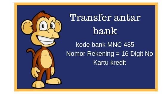 Kode yang dibutuhkan bila bayar kartu kredit mnc pakai transfer antar bank dari atm bca