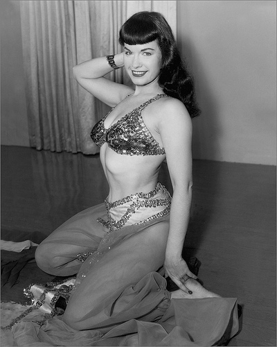 Betty Page Photos: Vintage Everyday: Photoshoot Of Bettie Page As Belly