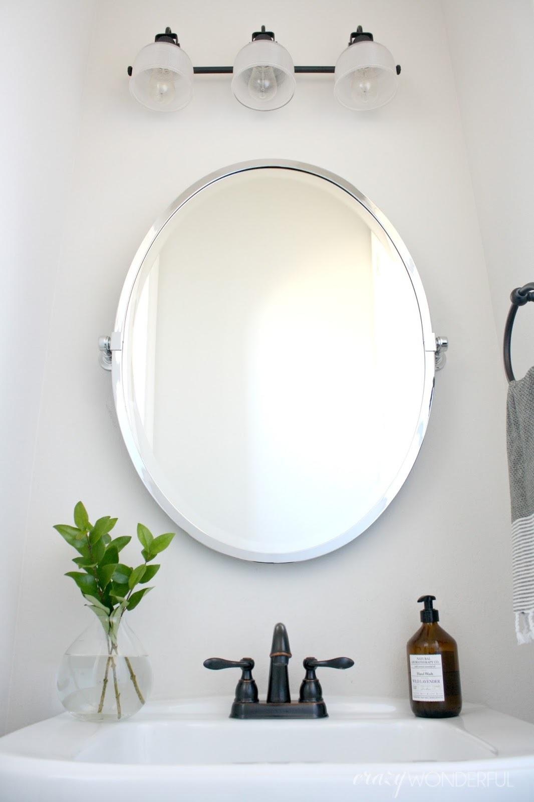 our powder room