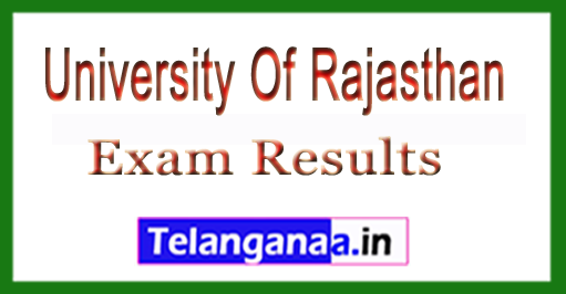 University Of Rajasthan BBA (DUE) 2018 Exam Results