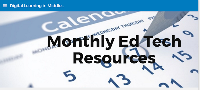 Click Image for Monthly Ed Tech Resources