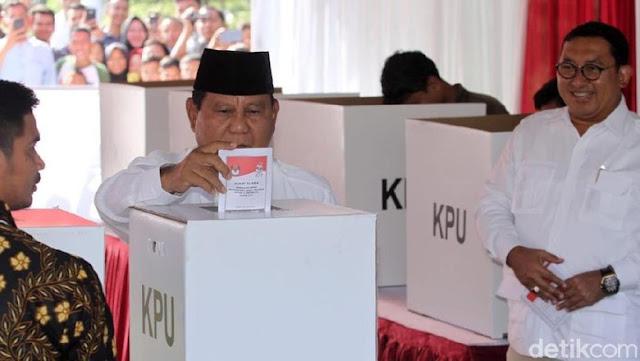 Optimis Menang, Prabowo Berterimakasih kepada Milenial dan Emak-Emak