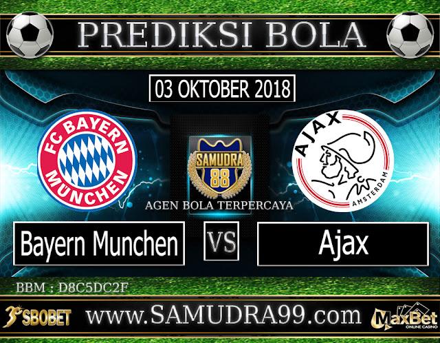 PREDIKSI TEBAK SKOR JITU BAYERN MUNCHEN VS AJAX 03 OKTOBER 2018