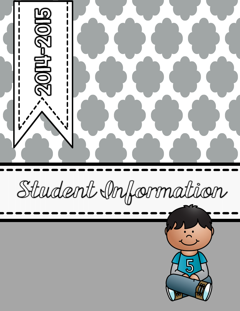 http://www.teacherspayteachers.com/Product/Editable-Student-Information-Binder-Covers-1661645