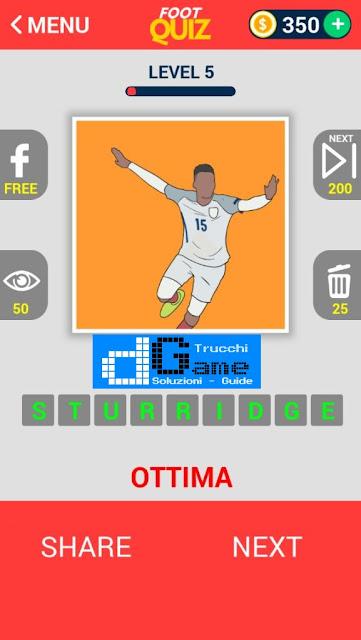FootQuiz Calcio Quiz Football (EURO 2016) soluzione livello 1-10