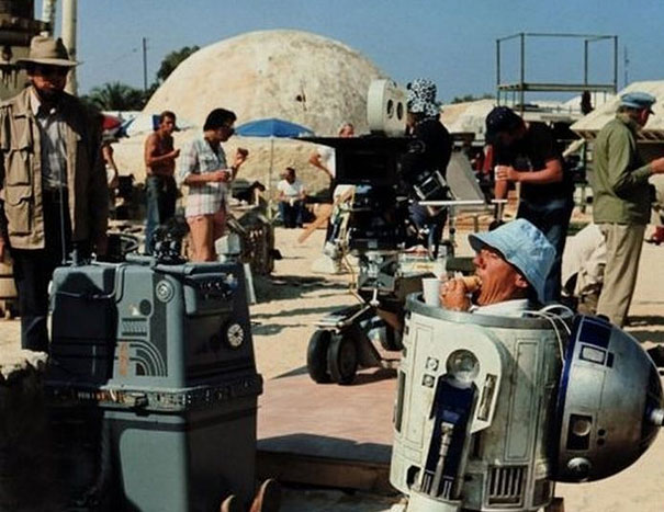 behind the scenes  shots from popular movies Star Wars