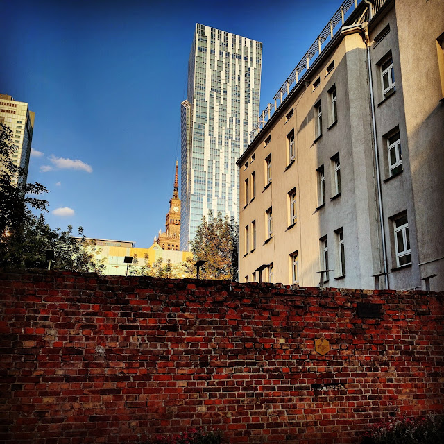 Remnant of the old Jewish Ghetto wall in Warsaw, Poland