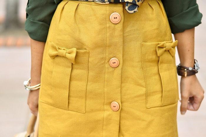Detalle de falda honey la bocoque temporada verano 2015