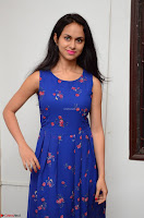 Pallavi Dora Actress in Sleeveless Blue Short dress at Prema Entha Madhuram Priyuraalu Antha Katinam teaser launch 046.jpg
