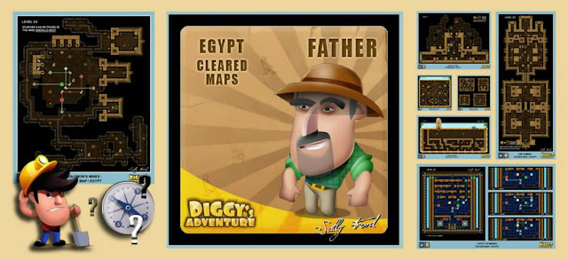 Diggy's Adventure Walkthrough: Egypt Father Quests