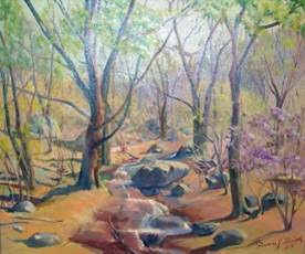 painting of Spring on South Mountain by Francis J. Quirk