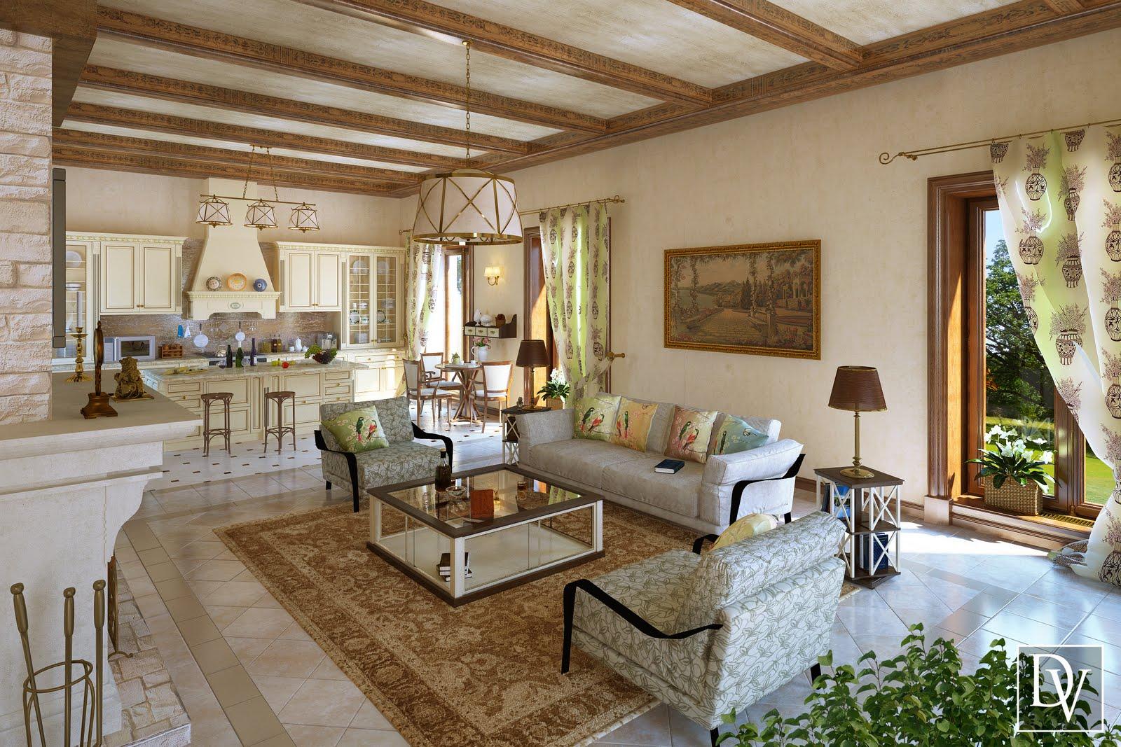 Valentina Bochulya. Design & visualization: Living room