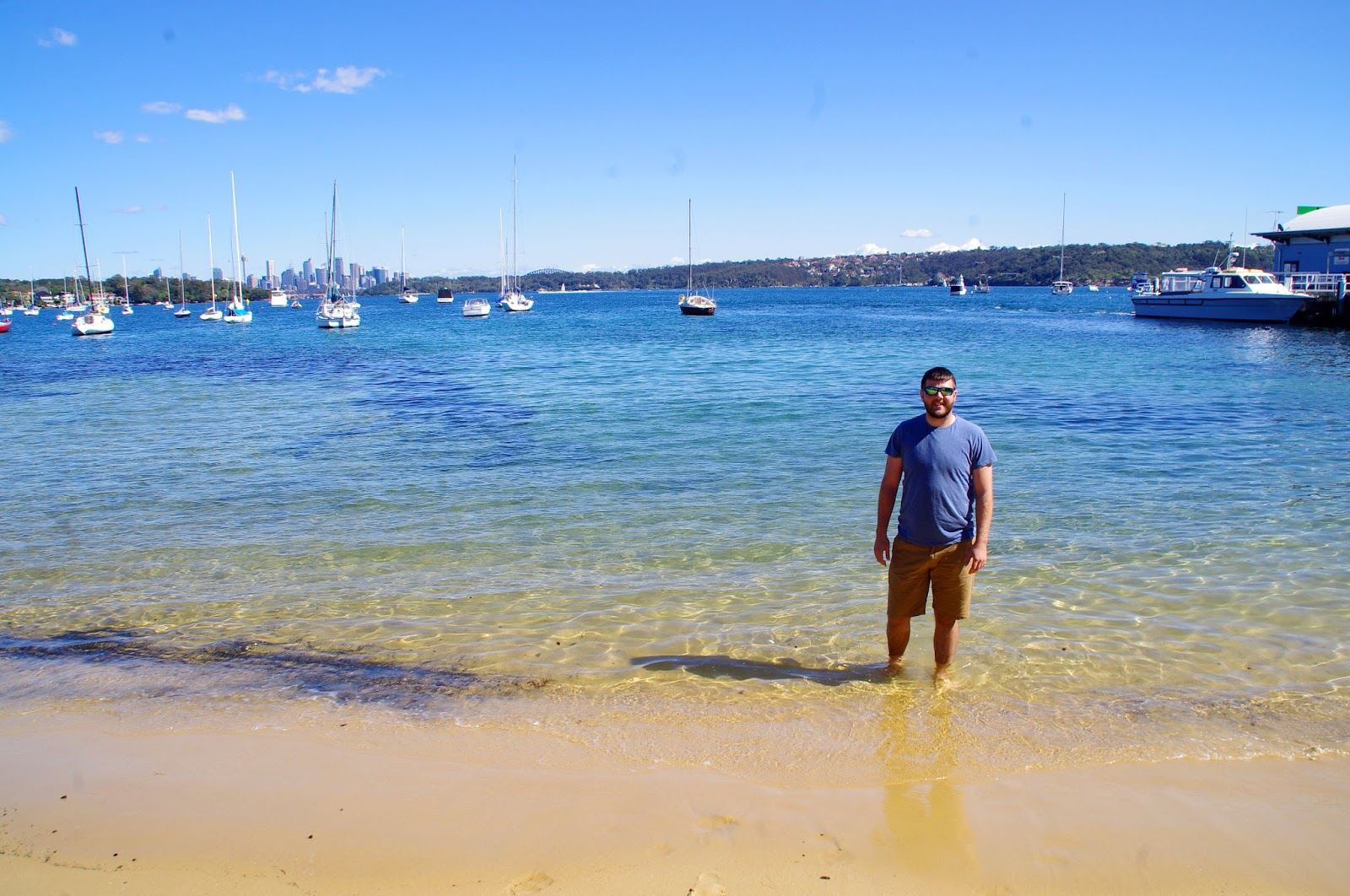 Dan paddling in Watsons Bay