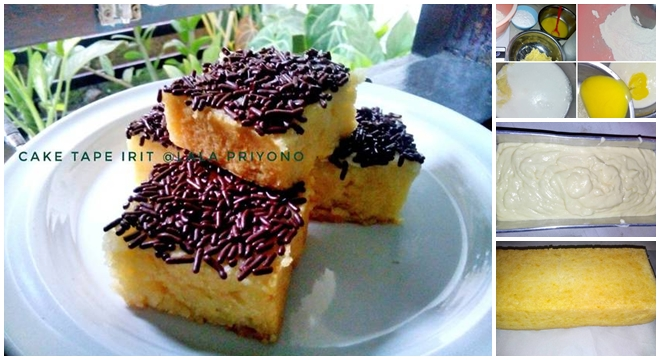Resep Cake Pisang Kukus No Mixer: Resep Cake Tape Keju Kukus Irit (no Telur No Mixer) Simple