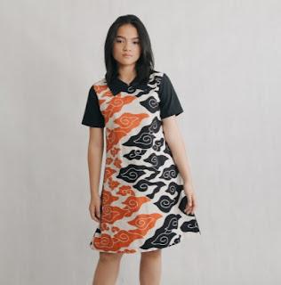 model dress batik modern trendy