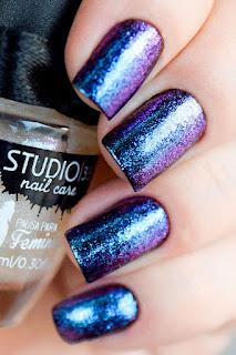 Esmalte #aquamarine da Pausa para Feminices com Studio 35