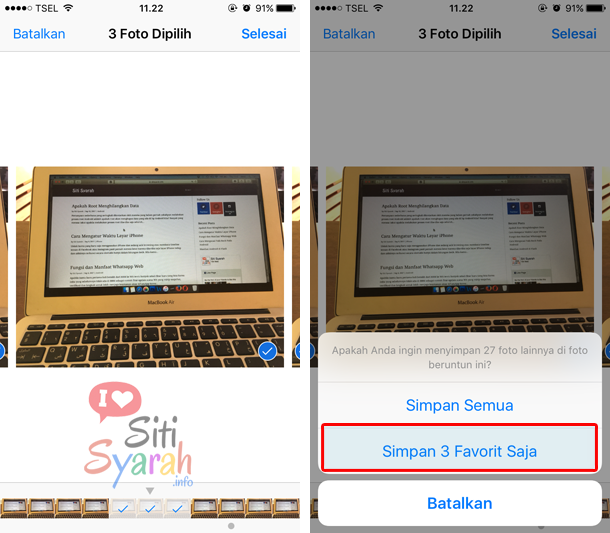 cara melihat burst photo di iPhone