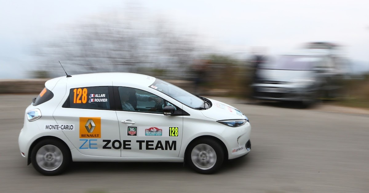 le v e je le veux e rallye monte carlo 2016 renault zoe en course. Black Bedroom Furniture Sets. Home Design Ideas