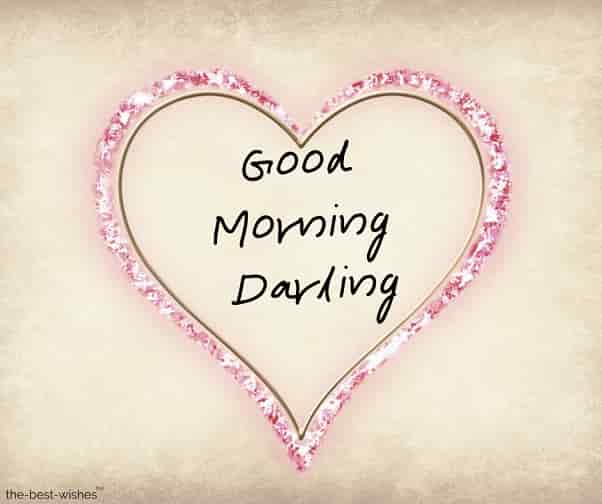 good morning darling how are you