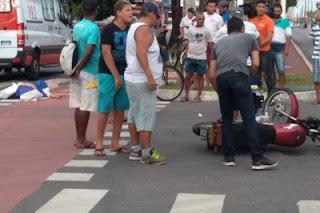 Homem morre durante colisão entre moto e carro na Paraíba