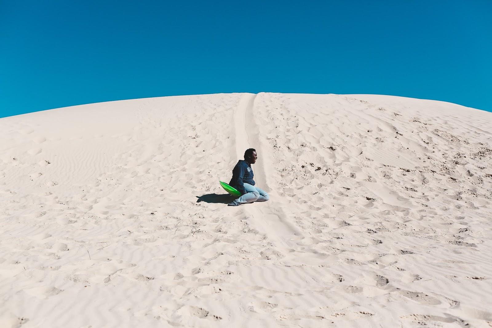Sand Surfing in Monahans Sandhills State Park