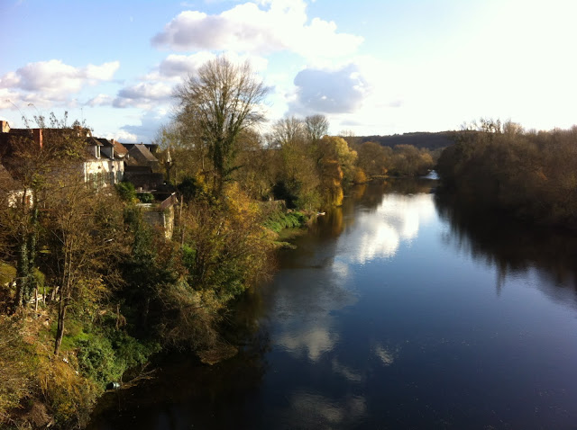 Reflections on the river Creuse at La Guerche in Southern Touraine