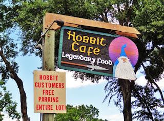 Hobbit Cafe (signage at parking lot entrance) 2243 Richmond Ave Houston, TX 77098