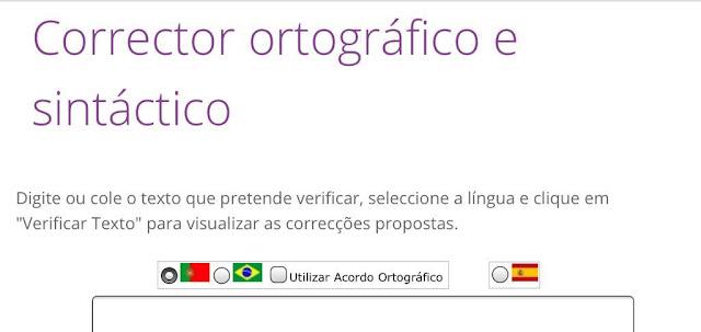 Corrector ortográfico y sintáctico de portugués de Brasil y Portugal