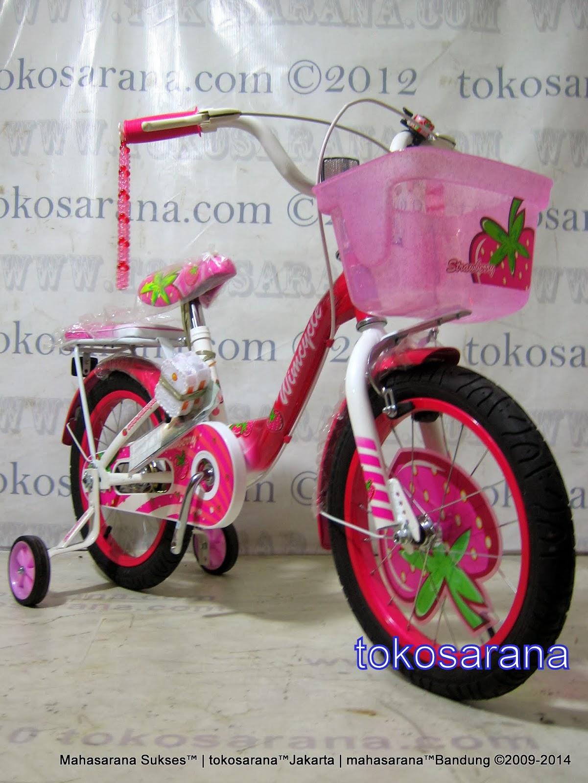16 Inch Wimcycle Strawberry Kids Bike