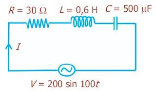 Rangkaian arus bolak balik terlengkap materi pendidikan kumpulan rangkaian seri rlc dengan masing masing r 30o l 06 h dan c 500 f dipasang pada sumber tegangan bolak balik dengan v 200 sin 100t volt ccuart Images